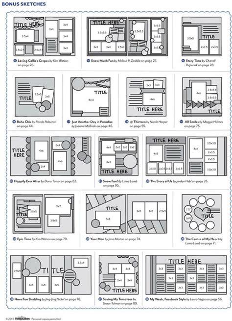 ideas  scrapbook layouts  pinterest