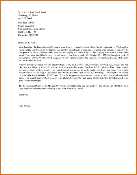 business letter sample  students letters