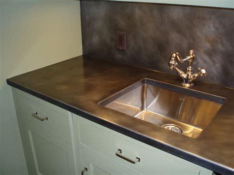 stainless steel kitchen backsplash zinc countertops custom