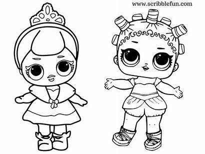 Lol Coloring Dolls Pages Surprise Doll Printable