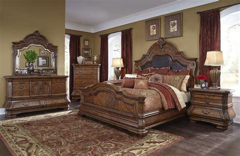 4 Piece Aico Tuscano Melange Mansion Bedroom Set Usa