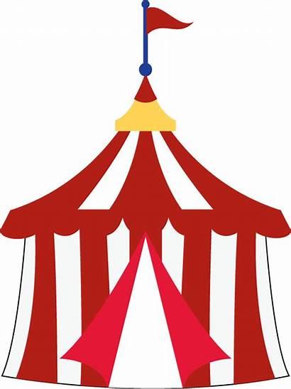 Circus Tent Carnival Clip Clipart Cartoon Tents