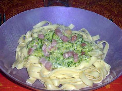 recette de p 226 tes courgettes lardons boursin