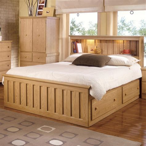 Bookcase Storage Bed by Lang Shaker Bookcase Bed With Bed Drawer