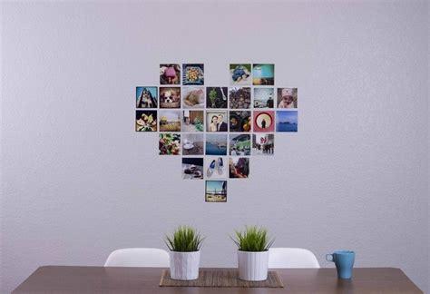 bilder an wand fotowand herz selber machen so gestalten sie ein herz aus fotos an der wand deko collage
