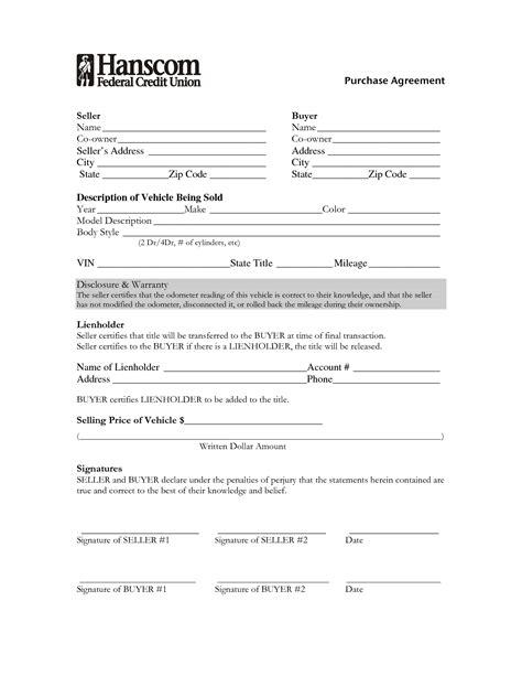 used car purchase agreement form portablegasgrillweber