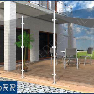edelstahl windschutz sichtschutz terrasse balkon f glas ebay With terrasse windschutz glas