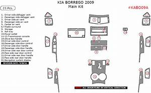 Kia Borrego 2009  Main Interior Kit  23 Pcs