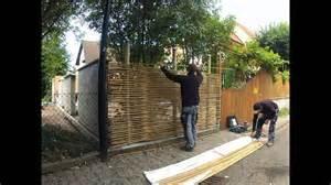 ideen sichtschutz aus holz montage sichtschutz aus bambus www bambus nl