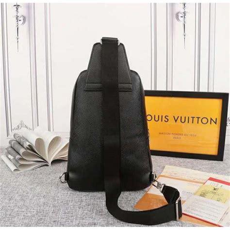 louis vuitton lv men avenue sling bag taiga leather black