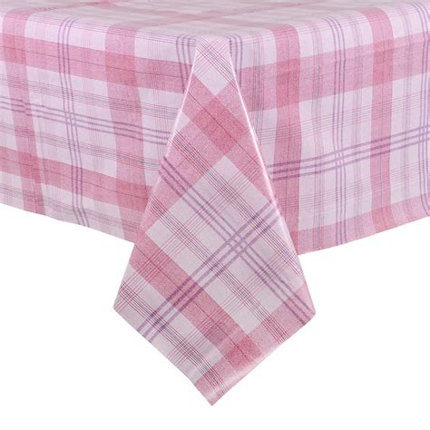 wipe clean table cloth pink plaid pvc wipe clean tablecloth table cover preview