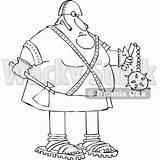 Axe Executioner Cartoon Holding Chubby Djart Flail Wackystock sketch template
