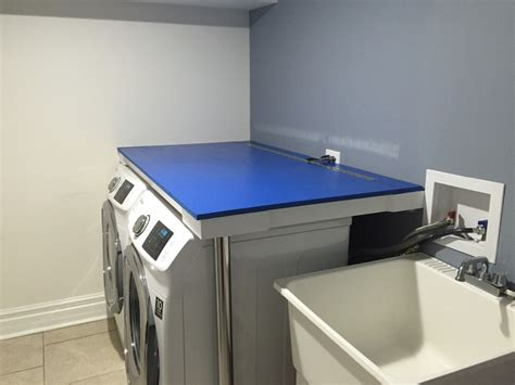 washer and dryer countertop installing countertop he washer dryer carpentry