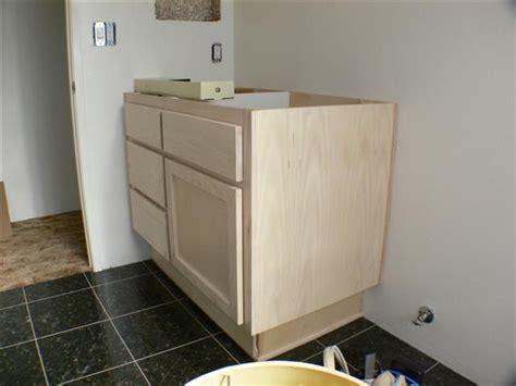bathroom vanity with drawers in toe kick by phildo92027