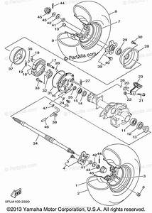 Yamaha Atv 2002 Oem Parts Diagram For Rear Wheel