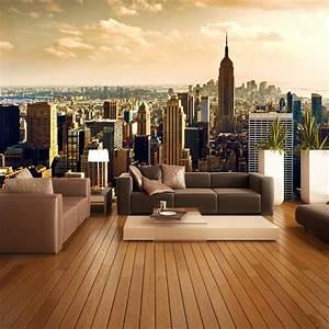 Custom 3D Mural Wallpaper Roll City Views Living Room Sofa ...