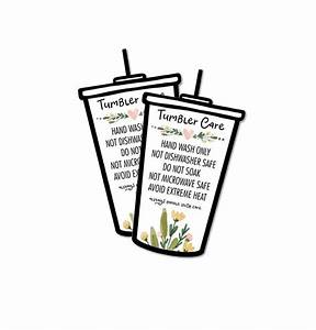 Ready To Print Iced Tumbler Care Cards