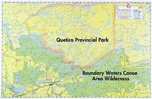 Boundary Waters Catalog E15 BWCA & Quetico Overview Map