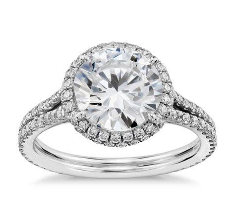 Blue Nile Studio Cambridge Halo Diamond Engagement Ring In