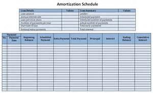 Microsoft Excel Amortization Schedule Template Loan Schedule Sle