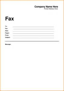 Word Fax Cover Letter Fax Cover Letter Doc Template