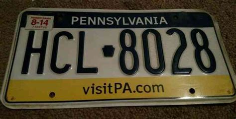 vanity plates pa pennsylvania license plate