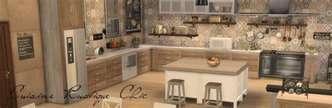 cuisine rustique et moderne sims 4 deco rustique cuisine kitchen chic moderne