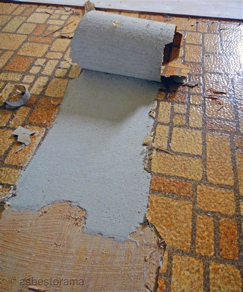 Asbestos Backing from Vintage Sheet Flooring   View of