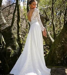 Robe de mariee longue dos nu idees et d39inspiration sur for Robe de mariée dentelle dos