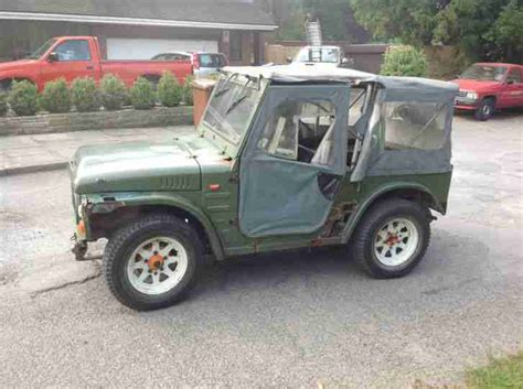 lj jeep for sale suzuki 1981 lj 80v jeep green grey super rare soft top and