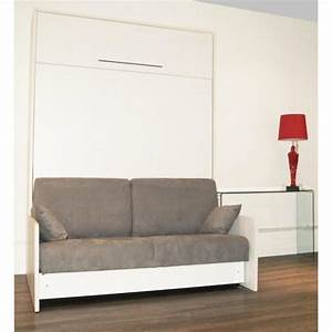 cette armoire lit space sofa se transforme en lit de 160 With tapis de sol avec lit armoire avec canapé