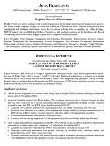 purchasing resume exles resume sle for director of procurement