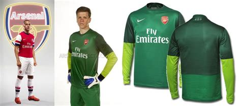 Divisa Portiere by Arsenal Maglia 2012 2013 Nike Presentata Ufficialmente