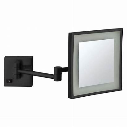 Mirror Wall Mounted Matte 5x Square Magnifying