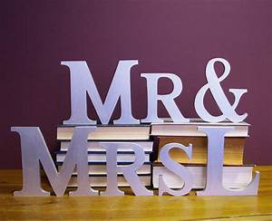 Handmade personalised mr mrs letters by altered chic for Personalised mr and mrs letters