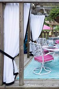 How, To, Make, Cheap, Diy, Outdoor, Curtains, That, Look, Custom
