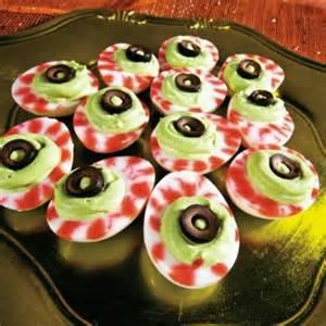 Halloween Deviled Eggs Eyeballs