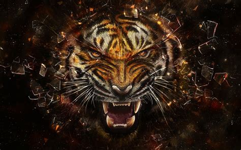 Digital Tiger Wallpaper digital tiger wallpaper 30995