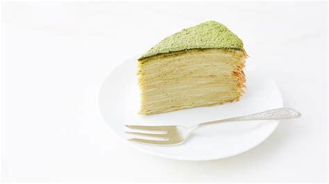 green tea crepe cake recipe dessert recipes pbs food