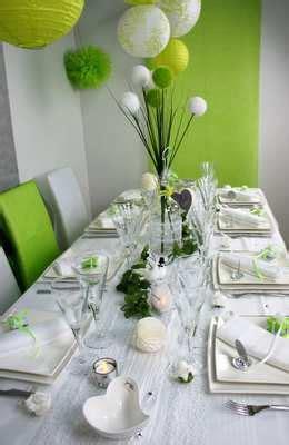 table mariage vert et blanc