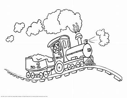 Coloring Steam Pages Locomotive Train Printable Getcolorings