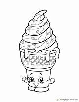 Coloring Shopkin Ice Cream Dream Pages Printable Coloringpagecentral sketch template