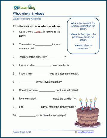 relative pronoun worksheets  learning