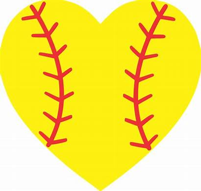Softball Heart Clipart Baseball Diamond Yellow Drawing
