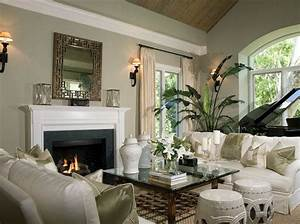 Modern house plans decorating with sage green for Sage green living room decorating