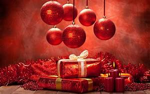 Snow, Christmas, Ornaments, Presents, Decorations, Red, Candles, Wallpapers, Hd, Desktop, And