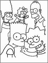Coloring Simpson sketch template