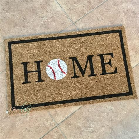 Baseball Doormat by Home Doormat Baseball Doormat Baseball Decor Home