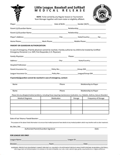 8+ Free Printable Medical Forms  Memo Formats