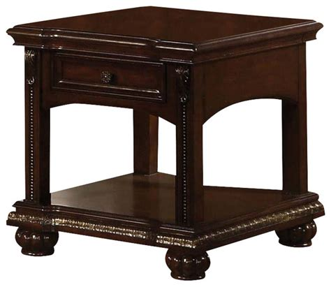 real wood coffee and end tables adarn inc solid poplar wood cherry accent side end table